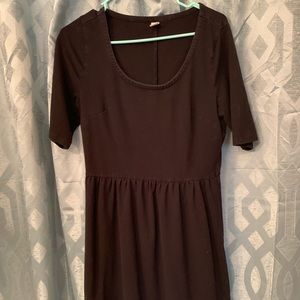 Large knee length black dress from Old Navy.